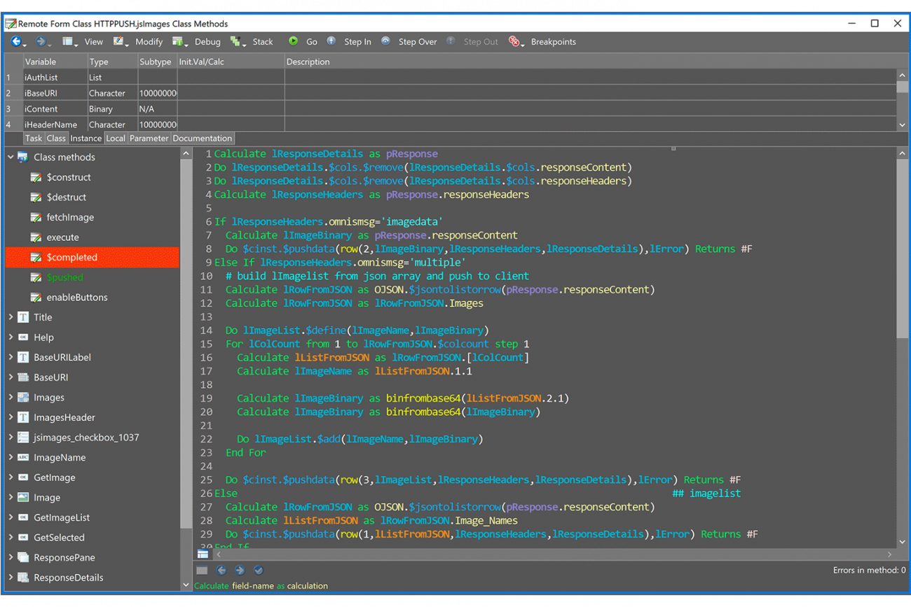 Omnis Studio >_ the fast + easy development environment for your apps
