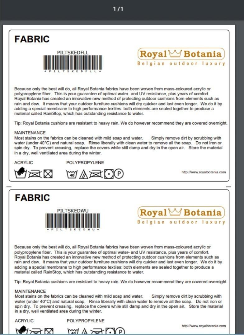 Online Item Labels
